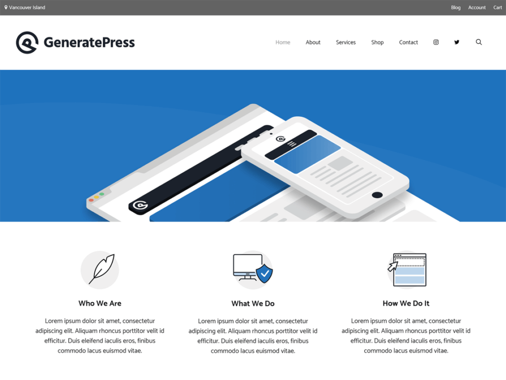 landing-page-generatepress-wordpress