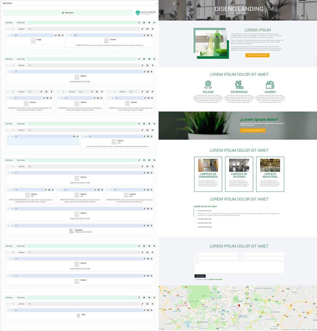 tipo de maquetación web