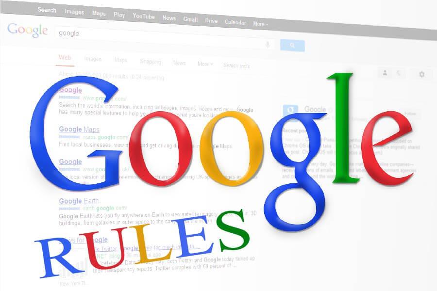 Las reglas de google