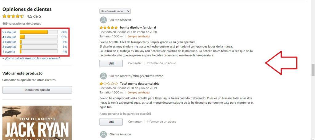reviews de producto Amazon
