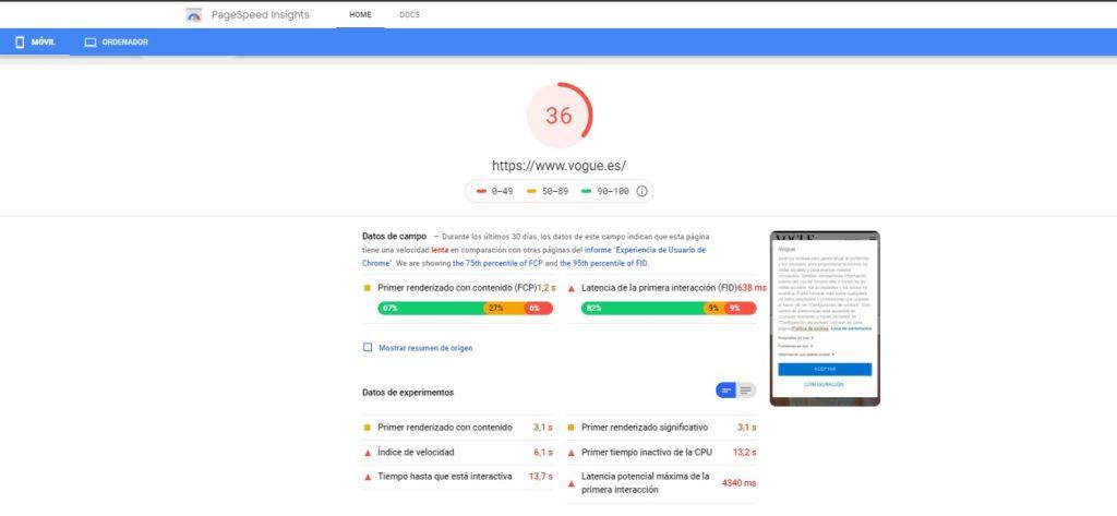 herramienta seo google page speed