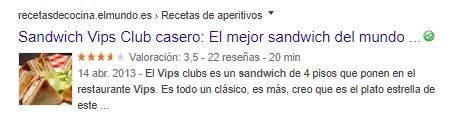 Rich Snippet de sandwich