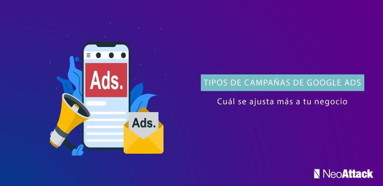tipos de campañas de Google Ads