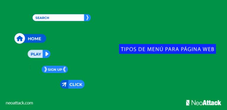 tipos de menú para página web