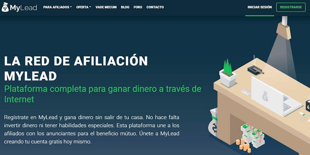Marketing de afiliados de Mylead