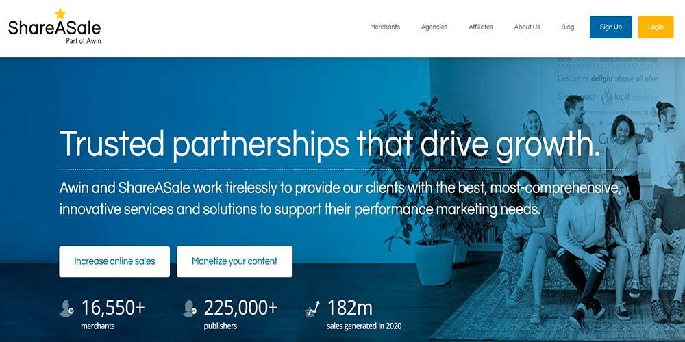 Marketing de afiliados de ShareAsale