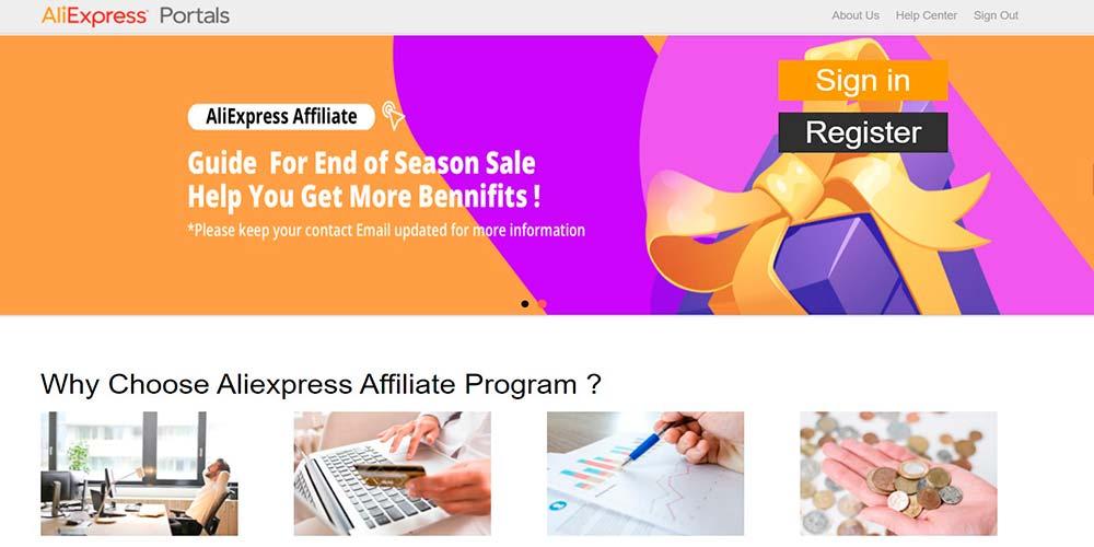 Marketing de afiliados de Aliexpress